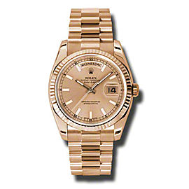 Rolex Day-Date President Rose Gold ChampagneDial 36mm Watch