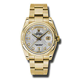 Rolex Day-Date President Yellow Gold Meteorite Dial 36mm Watch