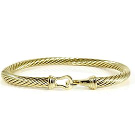 David Yurman Buckle 18k Yellow Gold Bracelet