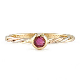 CARTIER 18K yellow gold/18K white gold/18K Pink Gold Ring CHAT-326