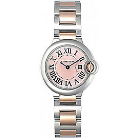 Cartier Ballon Bleu W2BB0009 Stainless Steel & 18K Rose Gold with Mother of Pearl 28.5mm Womens Watch