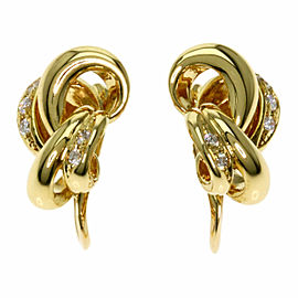 TASAKI 18K Yellow Gold Diamond Earring