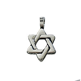 David Yurman Sterling Silver Deco Star of David Pendant