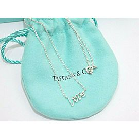 """Tiffany & Co. Sterling Silver Paloma Picasso """"LOVE"""" Necklace"""