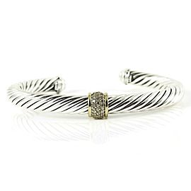 David Yurman Silver Ice Sterling Silver .21tcw Diamond Bracelet
