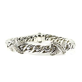 David Yurman Lyrica Sterling Silver 1.60tcw Diamond Bracelet