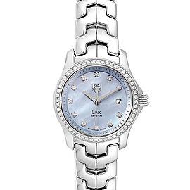 TAG Heuer Link Blue Mother of Pearl Diamond Ladies Watch WJF131F