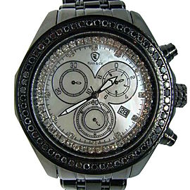 Robb & Co Joe Rodeo Black 1 Row 2.52 Ct Diamond Watch