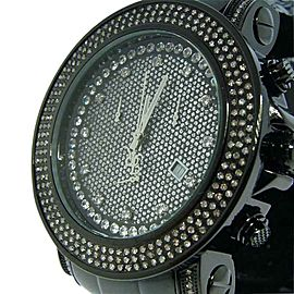 Joe Rodeo Junior Jojo 2.5 Ct Black Diamond Mens Watch