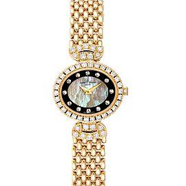 Baumer Mercier Yellow Gold MOP Diamond Vintage Cocktail Ladies Watch 18523