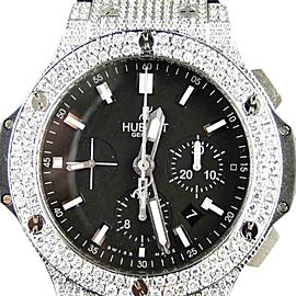 Hublot Big Bang Genuine Diamond 10.5 Ct Mens 44 Mm Watch