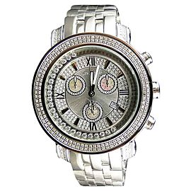Joe Rodeo/Jojo Tyler Silver 1.90 Ct Diamond Mens Watch