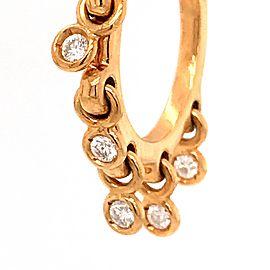 Dior 18k Yellow Gold Coquines Waterfall Diamond Hoop Earrings