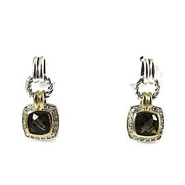 David Yurman Renaissance Sterling Silver Smoky Quartz, Diamond Earrings