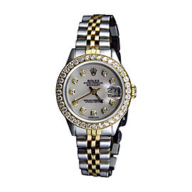 Rolex 2 Tone Datejust Jubilee 29mm Diamond Ladies Watch