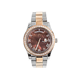Techno Com KC Day Date Two Tone Stainless Steel 41mm Diamond Watch