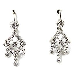 Doris Panos Anastasia 18k White Gold Diamond Earrings