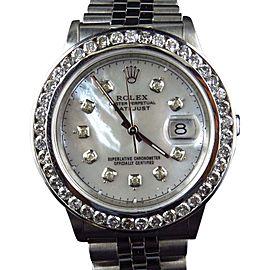 Rolex Datejust Oyster Quickset Channel Set Diamond Bezel 36mm Watch