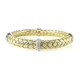 Roberto Coin Silk Weave 18k Yellow Gold Diamond Bracelet