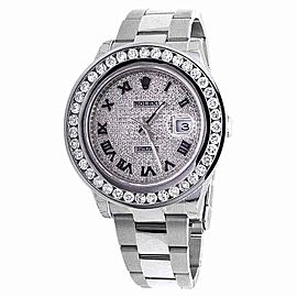 Rolex Datejust II 9.5 ct Diamond And Pave Diamond Dial 41mm Mens Watch