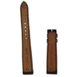 New Authentic Roger Dubuis Sympathie S27 14mm Short Black Crocodile Strap