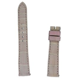 New Authentic Roger Dubuis Sympathie S27 14mm Short Light Pink Crocodile Strap