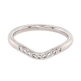 Tiffany and Co. Platinum V Shaped Band Diamond Ring