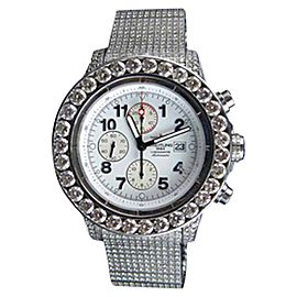 Breitling A13370 Super Avenger XL Stainless Steel and Diamonds Mens Watch