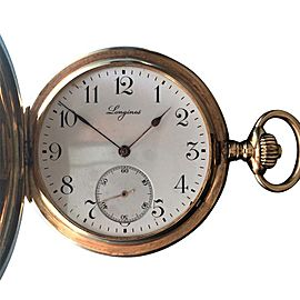 Longines 1910 Grand Prix 14K Yellow Pocket Watch 51mm