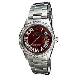 Rolex Datejust 1601 Stainless Steel & 3.00ct Diamond 37mm Watch
