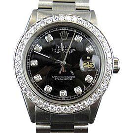 Rolex Datejust 1601 Stainless Steel & 2.5ctw Diamond 37mm Watch