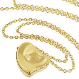 Tiffany & Co. Elsa Peretti Full Heart 18K Yellow Gold Pendant Necklace