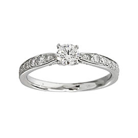 Tiffany & Co. 950 Platinum 0.21ct Diamond Harmony Ring Size 3.75