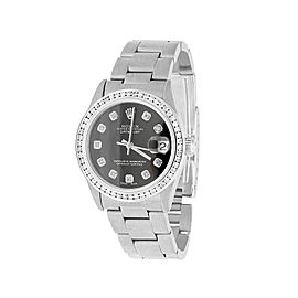 Rolex Datejust 178274 Stainless Steel Black Dial 1.75ct. Diamonds 31mm Womens Watch