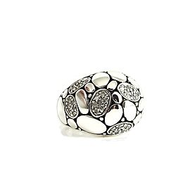 John Hardy Kali Sterling Silver Diamond Ring