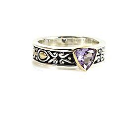 John Hardy Batu Sari Sterling Silver Amethyst Ring