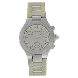 Cartier Chronoscaph 2996 Stainless Steel Quartz 32mm Womens Watch