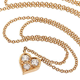 Tiffany & Co. 18K Rose Gold Diamonds Sentimental Heart Pendant Necklace