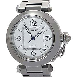 Cartier Pasha Date 2324 Stainless Steel Automatic 35mm Mens Watch
