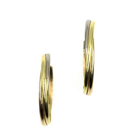 Cartier Trinty 18K Yellow, White and Rose Gold Large Hoop Earrings