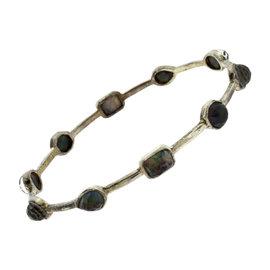 Ippolita Black Rock Candy Sterling Silver Multi-Stone Mixed Hinge Bracelet