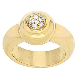 Chopard 18K Yellow Gold with 0.15ctw Diamond Thick Ring