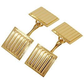 Tiffany & Co. 18K Yellow Gold Square Design Cufflinks