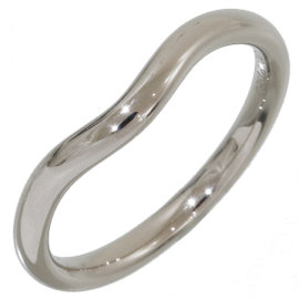Tiffany & Co. Elsa Peretti Platinum Pt950 Curved Ring Size 4.75