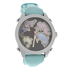 Jacob & Co. Five 5 Time Zone JC-M122 Stainless Steel with Mother of Pearl Dial 40mm Womens Watch