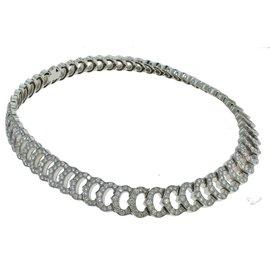 Cartier 'C De Cartier' 18K White Gold 20.00ct. Diamond Choker Necklace
