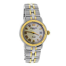 Raymond Weil Parsifal 9440 Stainless Steel & 18K Yellow Gold Mother of Pearl Quartz 27mm Womens Watch