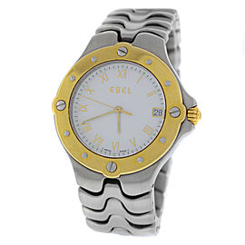 Ebel Sportwave E 6187631 Stainless Steel & 18K Yellow Gold Quartz 35mm Unisex Watch