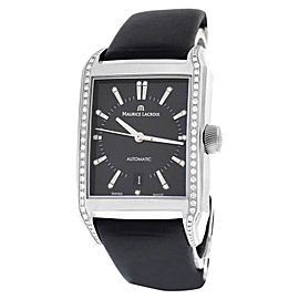 Maurice Lacroix Pontos Rectangulaire PT6247 Stainless Steel with Leather and Fabric Automatic 33mm Unisex Watch
