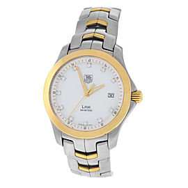 Tag Heuer Link WJF1153 Stainless Steel & 18K Yellow Gold Quartz 39mm Mens Watch
